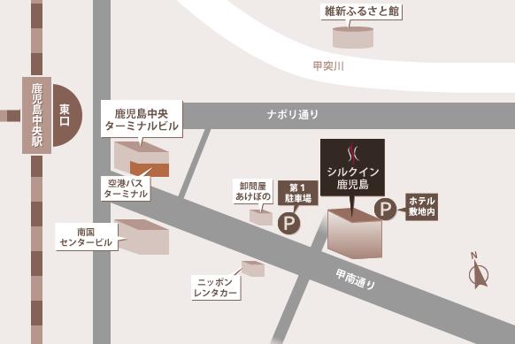 鹿児島 ホテル 周辺地図
