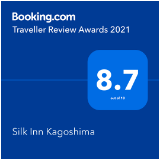 booking.com Traveller Review Award 2021 受賞しました!